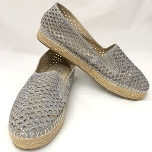 Stems Madden gray with bling accent flats size 9